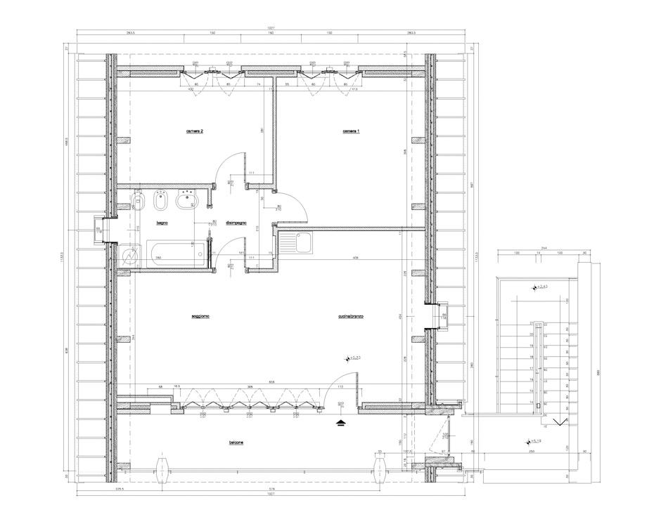 Recupero sottotetto via silla milano 2007 andrea derosa - Costruire case in pietra ...